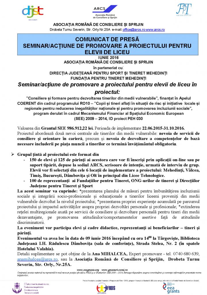 comunicat_seminar_targoviste_licee