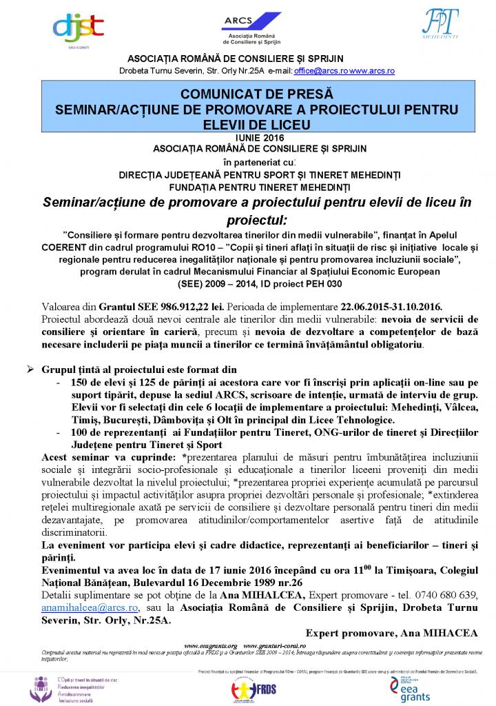 comunicat_seminar_timisoara_licee
